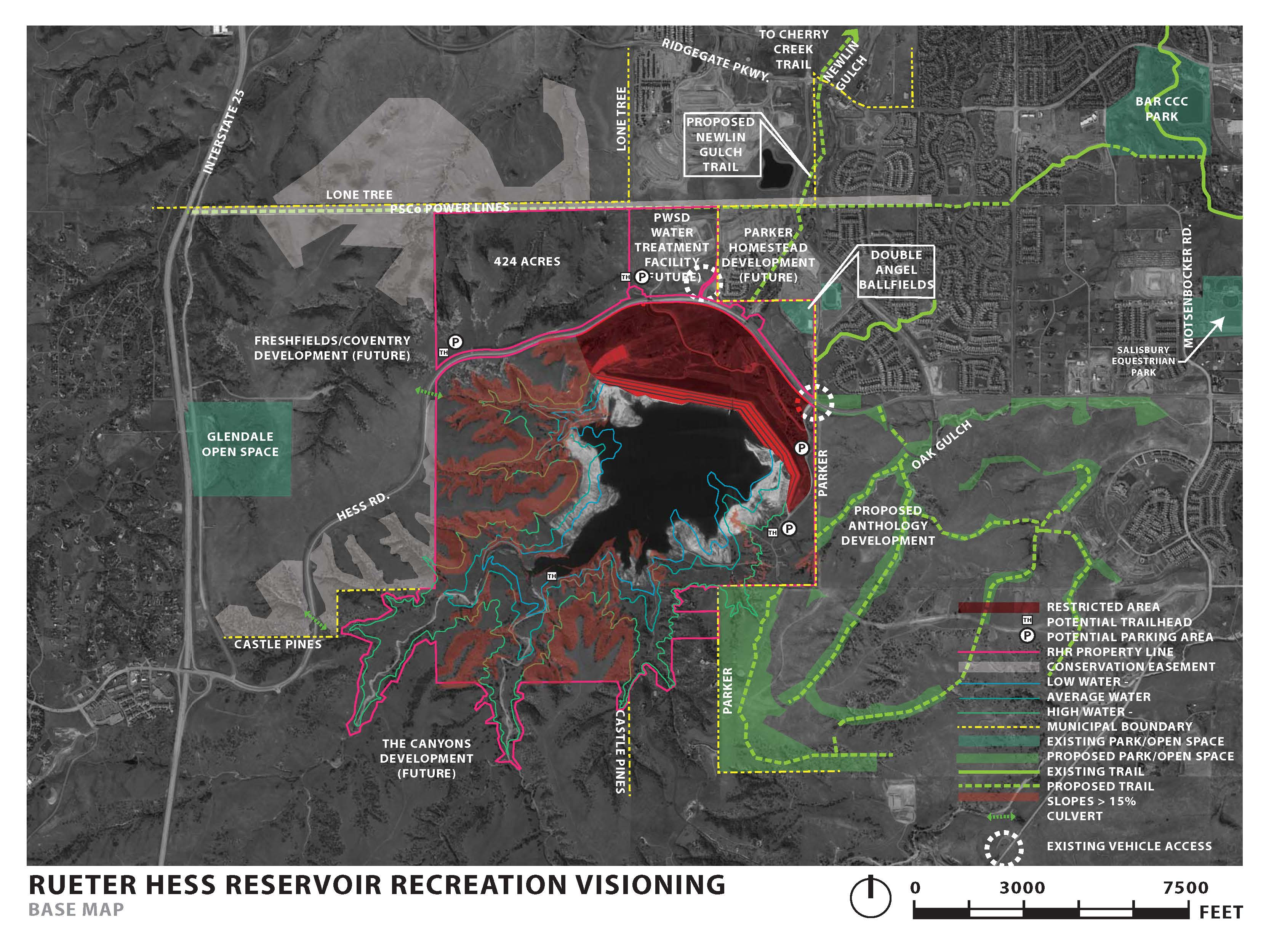 Rueter Hess Reservoir Recreation Visioning Map